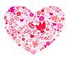 ID 3464089 | Walentynki pocztówka - Serce wykonana jest z obrazami | Klipart wektorowy | KLIPARTO