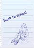 zurück zur Schule mit handgezeichneten Mädchen