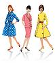Zestaw eleganckich kobiet - Retro Style Fashion modele | Stock Vector Graphics