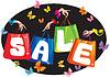 Sale-Konzept mit Taschen und Hände