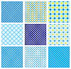 Conjunto de patrones inconsútil con tejido comprobado | Ilustración vectorial