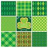 Set grüne seamlesspatterns für St. Patrick `s Day
