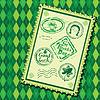 Set Green grunge Stempel mit Bierkrug,