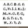 Englisch Alphabet - Grunge typewritter Briefe
