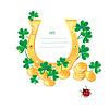 Marco para el diseño del día de San Patrick `s con | Ilustración vectorial