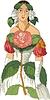 동백 나무 - 꽃으로 여성 | Stock Vector Graphics