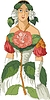 Kamelie - eine Frau als Blume | Stock Vektrografik