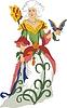 Nelke - eine Frau als Blume