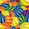 공의 다채로운 원활한 배경 | Stock Vector Graphics