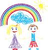 Crayon больно детям и радуга