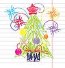 Crayon Weihnachtsbaum