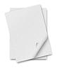 Stos papieru z curl | Stock Foto