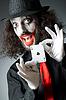 ID 3399188 | Joker mit Karten schießen | Foto mit hoher Auflösung | CLIPARTO