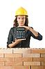 昂贵的建设理念与女人 | 免版税照片