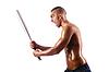 ID 3450618 | Muskulöser Mann mit Baseballschläger | Foto mit hoher Auflösung | CLIPARTO