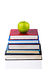Powrót do koncepcji szkoły z książek i jabłko | Stock Foto