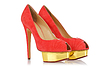 Rote stilvolle Frauen-Schuhe | Stock Foto