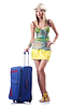 Atrakcyjna kobieta, gotowe do letnich wakacji | Stock Foto