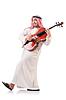 Arabische Mann spielt Geige | Stock Foto