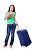Girl departing for summer vacation | Stock Foto