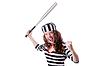 ID 3600368 | Skazać przestępcę w pasiaku | Foto stockowe wysokiej rozdzielczości | KLIPARTO