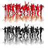 Silhouetten von tanzenden Menschen | Stock Vektrografik
