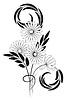 Schwarzweißer Blumenstrauß | Stock Vektrografik