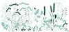 Wilde Gräser und Schmetterling | Stock Vektrografik