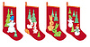 Skarpety na prezenty świąteczne | Stock Vector Graphics