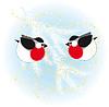 Bullfinch kleiden Weihnachtsbaum