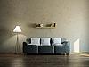 Skórzana sofa w salonie | Stock Illustration