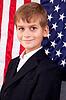 ID 3431210 | Portret chłopca z amerykańskiej flagi | Foto stockowe wysokiej rozdzielczości | KLIPARTO