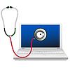 ID 3498269 | Ноутбук и стетоскоп. Концепция ремонт компьютеров | Векторный клипарт | CLIPARTO