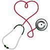 Herzform Stethoskop. Kardiologie-Konzept