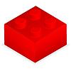 Roter Kunststoff-Baustein | Stock Vektrografik
