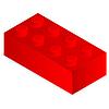 ID 3698780 | Roter Kunststoff-Baustein | Stock Vektorgrafik | CLIPARTO