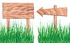Holzelementen und Gras