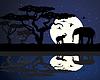 非洲大象 | 向量插图