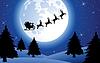Urlaub Hintergrund mit Santa