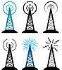 广播发射塔符号 | 向量插图