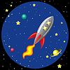 ID 3493509 | Rakete im Weltraum | Stock Vektorgrafik | CLIPARTO