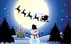 Weihnachten Hintergrund mit santa