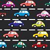 Автомобилей на дороге | Векторный клипарт