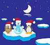 Tiere auf Eisscholle