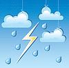 Wolke, regen Tropfen und Blitze