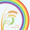 Weizenähren und Regenbogen