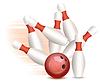 Bowling ball i szpilki | Stock Vector Graphics