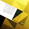 Goldene Dreiecke Hintergrund mit Platz für Text. ,