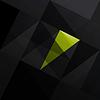 摘要三角形黑色背景 | 向量插图