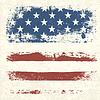 美国国旗复古纹理背景。 | 向量插图